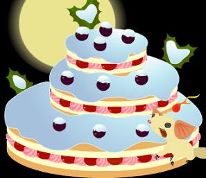 冬のブルーベリーケーキ